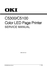 Manual de serviço Okidata C5100