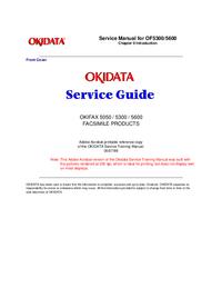 Instrukcja serwisowa Okidata OKIFAX 5050