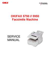 Instrukcja serwisowa Okidata OKIFAX 5950