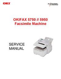 Manual de serviço Okidata OKIFAX 5950