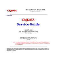 manuel de réparation Okidata OKIJET 2020