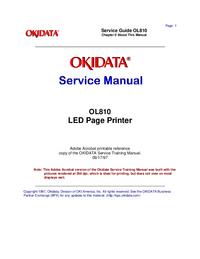 Service Manual Okidata OL810