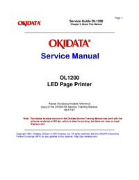 Manual de servicio Okidata OL1200
