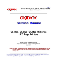 Manual de servicio Okidata OL410e-PS