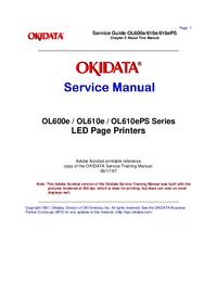 Servicehandboek Okidata OL600e
