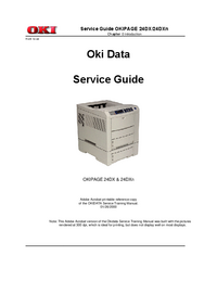 Service Manual Okidata Okipage 24DX