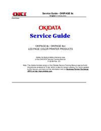 Instrukcja serwisowa Okidata OKIPAGE 8cn