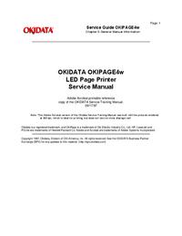 manuel de réparation Okidata Okipage 4w