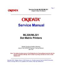 Руководство по техническому обслуживанию Okidata ML320