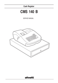 Serviceanleitung Olivetti CMS-140B