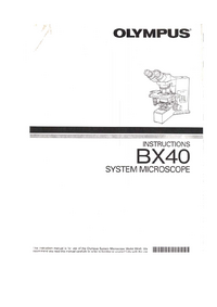 User Manual Olympus BX-40