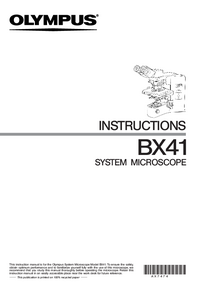 Manual del usuario Olympus BX41