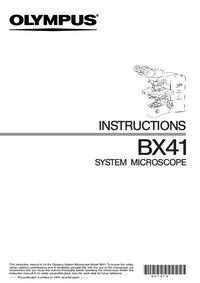 Gebruikershandleiding Olympus BX41