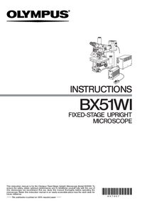 User Manual Olympus BX51WI