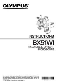 Руководство пользователя Olympus BX51WI