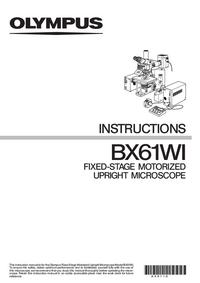 Manual del usuario Olympus BX61WI