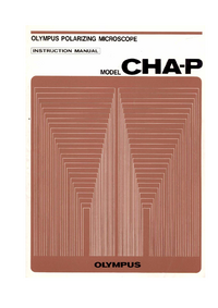 Manuale d'uso Olympus CHA-P