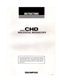 Manuale d'uso Olympus CHD