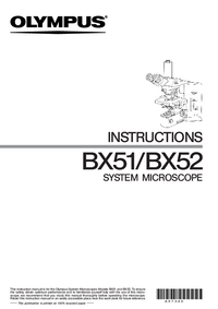 Manual del usuario Olympus BX52