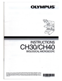 User Manual Olympus CH40