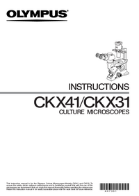 Manuale d'uso Olympus CKX41