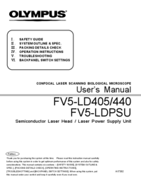 Manual del usuario Olympus FV5-LDPSU