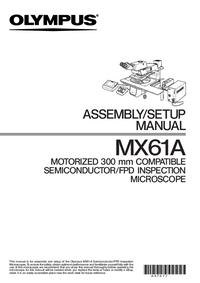 User Manual Olympus MX61A