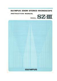 Руководство пользователя Olympus SZ-III