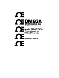 User Manual Omega Tac 81