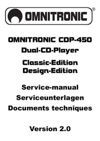 Руководство по техническому обслуживанию Omnitronic CDP-450