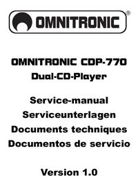 Manual de servicio Omnitronic CDP-770