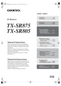 Instrukcja obsługi Onkyo TX-SR805