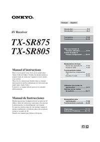 Bedienungsanleitung Onkyo TX-SR805