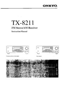 Manuale d'uso Onkyo TX-8211