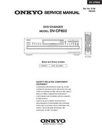 Manuale di servizio Onkyo DV-CP802