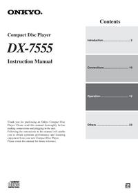 Bedienungsanleitung Onkyo DX-7555