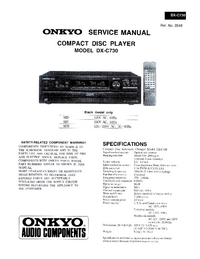 Manual de servicio Onkyo DX-C730