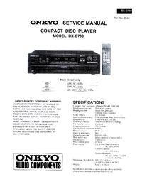 Instrukcja serwisowa Onkyo DX-C730