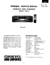 Manual de servicio Onkyo CDC-3