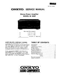 Руководство по техническому обслуживанию Onkyo M-588F