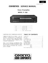 Manual de servicio Onkyo P-308