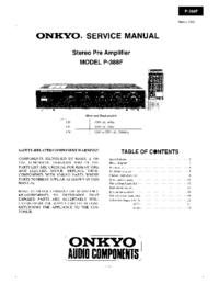 Instrukcja serwisowa Onkyo P-388F