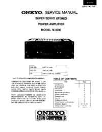 Manuale di servizio Onkyo M-5030