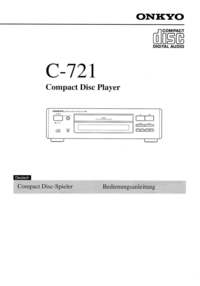Manual del usuario Onkyo C-721