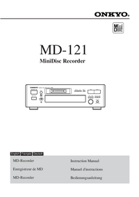 User Manual Onkyo MD-121