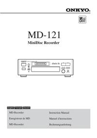 Manuale d'uso Onkyo MD-121