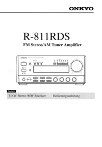 Manual del usuario Onkyo R-811RDS