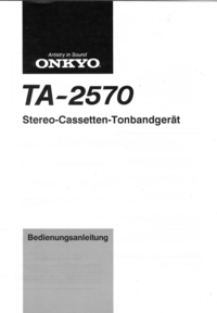 User Manual Onkyo TA-2570