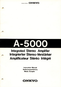 User Manual with schematics Onkyo A-5000