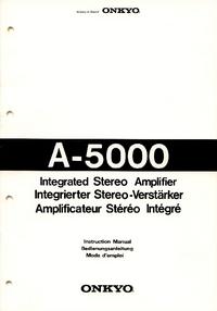 Bedienungsanleitung mit Schaltplan Onkyo A-5000